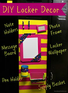 DIY Locker Decorations and Accessories - Use your favorite Duck Tape patterns and colors for a unique look. Back To School Crafts #ad #DuckToSchool