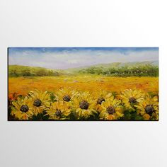 Abstract Painting, Sunflower Painting, Landscape Painting, Abstract Art, Canvas Art, Wall Art, Original Artwork, Canvas Painting, Oil Painting 297
