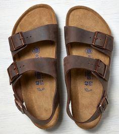 Brown Birkenstock Milano Leather Sandal