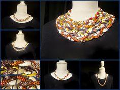 CéWax vous présente ses dernières créations. Descolliers de style ethnique, en tissu wax africain. Une bonne idée pour s'habiller pour les fêtes. Pour se procurer les bijoux CéWax, voici l'...