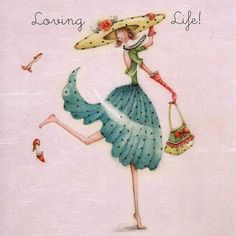 """Cards """" Loving Life """" - Berni Parker Designs ღ✟ Art Fantaisiste, Creation Photo, Finding Neverland, Crazy Friends, Birthday Greeting Cards, Whimsical Art, Cute Illustration, Art Drawings, Sketches"""