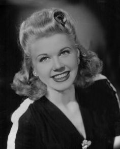 Doris Day, 1945 ~ While touring with Les Brown & His Band of Renown, Doris used to babysit the now-grown trumpet player who entertains with my pianist father!  More here: http://www.edelweisspatterns.com/blog/?p=1556