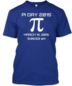 Pi Day 2015 - T-shirt / Hoodie How cool is this!!!