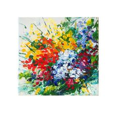 Colorful Abstract Art, Abstract Canvas Art, Abstract Flowers, Acrylic Painting Canvas, Galaxy Painting, Flower Girl Gifts, Green Art, Small Paintings, Painting Edges