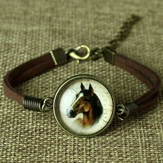 Leather Horse Bracelet - Free Shipping!