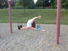 Swing set splits