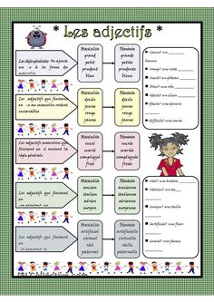 Les adjectifs qualificatifs #french #francais