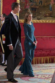 Princess Letizia - Spanish Royals Receive Diplomatic Corps