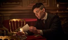 """And there it goes, Grace."" Thomas Shelby (Cillian Murphy) in Peaky Blinders. Photograph: Robert Viglasky"