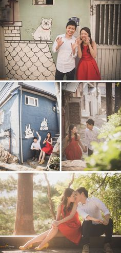couple dating snap ihwa mural village seoul