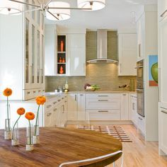 shaker cabinets with modern hardware