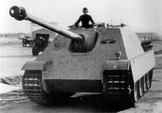 Fahrgestell V 101 Jagdpanther prototype on the proving grounds for testing