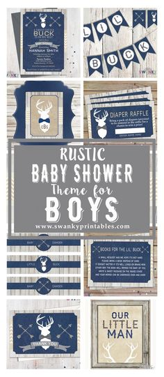 Pin this Rustic Deer Child Bathe for Boys. Arrows and Deer Child Bathe Theme. Navy, Grey ...