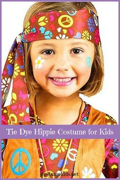 Tie Dye Hippie Costume for Kids Hippies make a fun choice to dress up for at Halloween or other costumed occasions. Kids can get in on the groovy fun with a fun hippie costume for kids. 1960s Costumes, Diy Costumes, Cosplay Costumes, Costume Ideas, Party Costumes, Disco Party Costume, Hippie Party, Hippie Costume, Tie Dye Outfits