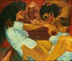 Emil Nolde - Legend, Saint Symeon and the Women, 1915