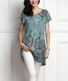 3a9c0e2899337 Blue Paisley Boyfriend Tunic by Reborn Collection  zulilyfinds. Simple TunicPlus  Size ...