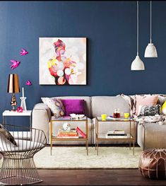 Copycat Chic Room Redo | Navy & Gold Living Room - | Copy Cat Chic | chic for cheap