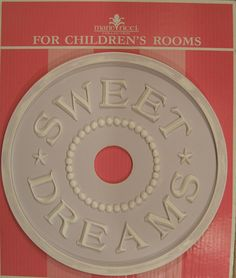 Ceiling Medallion for kids rooms by Marie Ricci. Sweet Dreams shown in pale lilac distressed. www.mariericci.com $145