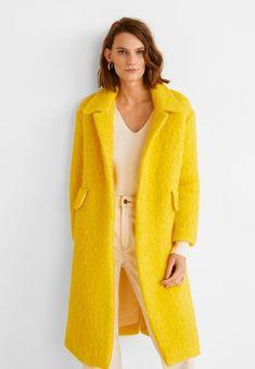 Mango SUNNY - Wollmantel klassischer Mantel - yellow - Zalando.de  Wollmantel Damen, 5454aecb95