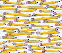 No 2. Pencils fabric by bzbdesigner on Spoonflower - custom fabric