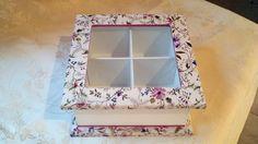 Cajas de te shaby chic Diy Wood Projects, Easy Projects, Diy And Crafts, Arts And Crafts, Shaby Chic, Tea Box, Kitchen Storage, Shabby, Handmade