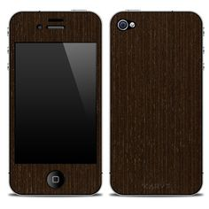 Karvt wenge wood iPhone 4/4S skin designed by Kurt Barbee