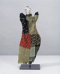 www.ompomhappy.com   One of Klee's simple, naive puppets he made for his son Felix #PaulKlee #Klee #puppets #marionettes #art #modernart #naiveart #puppettheatre #handpuppet