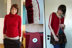 cardigan refashion