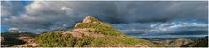 Rafel Miro posted a photo:  - Puig de La Mata i arc de Sant Martí - Panoràmica.  - Puig de La Mata y arco-iris - Panorámica.  - Puig de La Mata and Rainbow - Panoramic view.