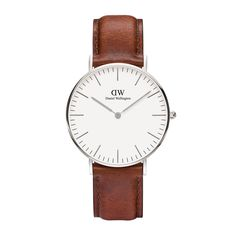 The Classic St Mawes (36mm) in Silver by Daniel Wellington