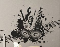 Love of Music 2  Wall Decal Vinyl Decor Art Modern by UberDecals, $23.97