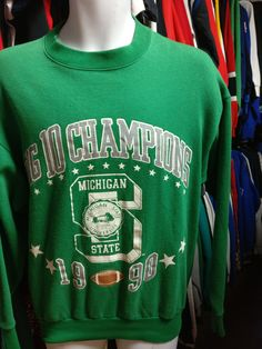 Vintage '90 MICHIGAN STATE SPARTANS NCAA Big 10 Champs Sweatshirt L