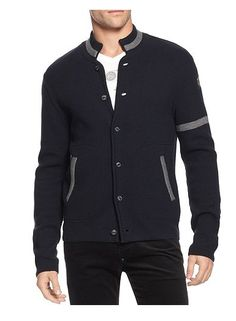 Armani Jeans Button- Front Cardigan