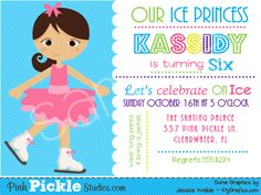 I think this is it.  Perfect invite for our ice princess.