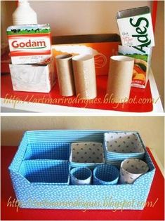 Discover recipes, home ideas, style inspiration and other ideas to try. Home Crafts, Diy Home Decor, Diy And Crafts, Cardboard Box Crafts, Paper Crafts, Carton Diy, Diy Rangement, Diy Recycle, Diy Box