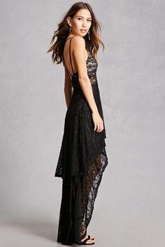 Floral Lace High-Low Dress