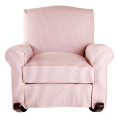 Land of Nod: Attractive AmerICAN Upholstered Rocking Nursery Chair with Slipcover