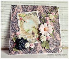 Mit Liebe für's Detail ❤ by Dunja Dücker | Cards und More | : DT Something Tattered | Boho Paisley Background Stamp |