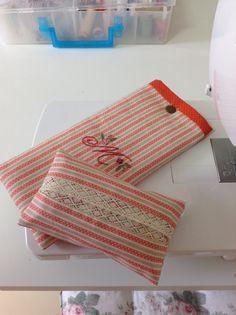 porta óculos e porta lenço de papel