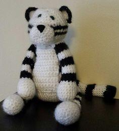 Ravelry: Amigurumi, White Tiger, free crochet pattern by Derek Nisbet, stuffed toy, #haken, gratis patroon (Engels), tijger, kat, leeuw, knuffel, speelgoed, #haakpatroon