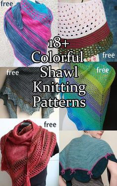 Free Colorful Shawl Knitting Patterns