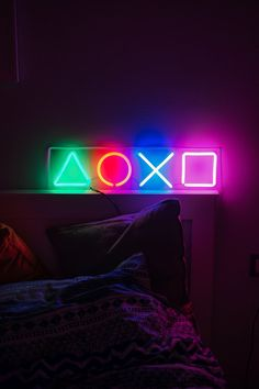 PlayStation neon sign for living room
