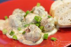 Švédské masové kuličky v krémové-hořčičné omáčce Potato Salad, Sushi, Potatoes, Meat, Chicken, Ethnic Recipes, Food, Recipes, Essen