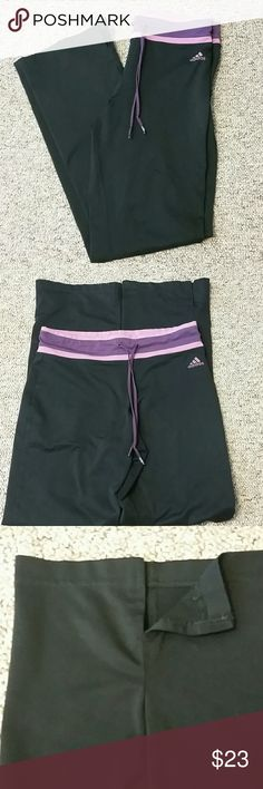🆕 Adidas Pants NWOT  Tag lists this as a medium,  but fits like a small. Please reference measurements.  92% polyester / 8% spandex   Waist measures 14 inches  Inseam measures 29 inches  Width of hem 8 inches  Slit at hem is 3 inches (see pic 3)  ⚠Please make offers thru the OFFER TAB ONLY. I DO NOT negotiate on the listing⚠  ❌No trades  ❌No modeling  25 Adidas Pants Track Pants & Joggers