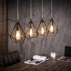 Hanglampen met een industrieel uiterlijk voor een betaalbare prijs.