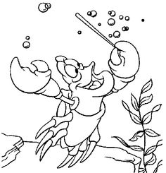 Sebastian Will Eat Little Mermaid Coloring Pages Pinterest