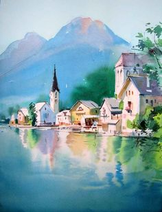 watercolor painting milind