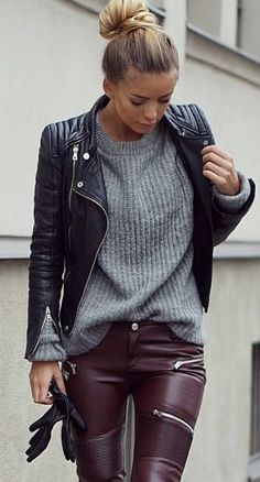 Opt for a chic quilted leather jacket to give any ensemble a luxurious finish.