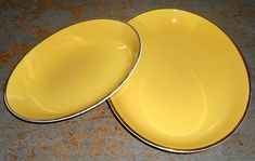 Vintage Platters Yellow Nesting Serving Dish Retro by TheBackShak, $35.00