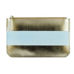 Hand Clutch Gold Blue now featured on Fab.